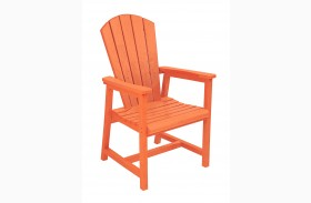 Generations Orange Adirondack Dining Arm Chair