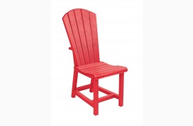 Generations Red Adirondack Dining Side Chair
