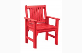Generations Red Slat Back Dining Arm Chair