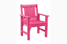 Generations Fuschia Slat Back Dining Arm Chair