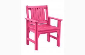 Generations Fuschia Slat Back Dining Arm Chair