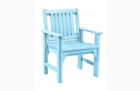 Generations Aqua Slat Back Dining Arm Chair