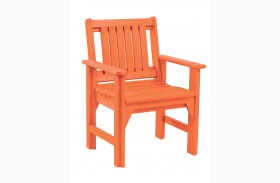 Generations Orange Slat Back Dining Arm Chair