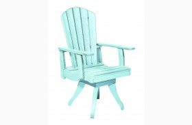 Generations Aqua Swivel Dining Arm Chair