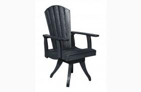 Generations Black Swivel Dining Arm Chair