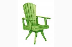 Generations Kiwi Lime Swivel Dining Arm Chair