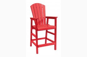 Generations Red Adirondack Dining Pub Arm Chair