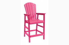 Generations Fuschia Adirondack Dining Pub Arm Chair