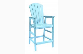 Generations Aqua Adirondack Dining Pub Arm Chair