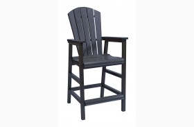 Generations Black Adirondack Dining Pub Arm Chair