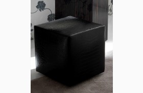 Nightfly Black Pouf