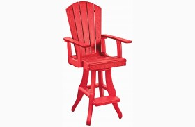 Generations Red Swivel Pub Arm Chair
