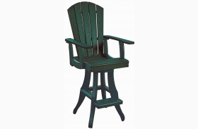 Generations Green Swivel Pub Arm Chair