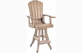 Generations Beige Swivel Pub Arm Chair