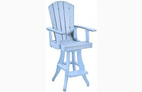 Generations Sky Blue Swivel Pub Arm Chair
