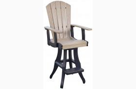 Generations Beige/Black Swivel Pub Arm Chair