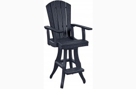 Generations Black Swivel Pub Arm Chair