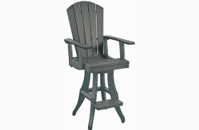 Generations Slate Swivel Pub Arm Chair