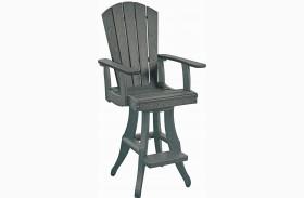 Generations Slate Swivel Pub Arm Chair