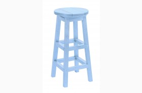 Generation Sky Blue Swivel Bar Stool