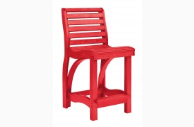 St Tropez Red Counter Chair