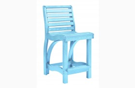 St Tropez Aqua Counter Chair