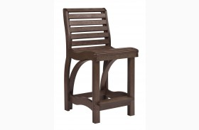 St Tropez Chocolate Counter Chair