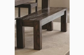 Calabasas Dark Brown Dining Bench