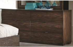 Calabasas Dark Brown 6 Drawer Dresser