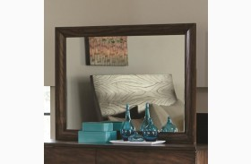 Calabasas Dark Brown Bevelled Landscape Mirror