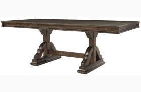 Canyon Creek Vintage Oak Extendable Trestle Dining Table