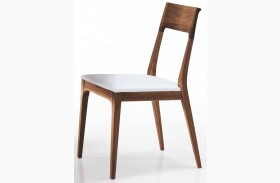 Capri Solid Walnut and White Dining Chair