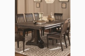 Carlsbad Dark Brown Rectangular Extension Dining Table