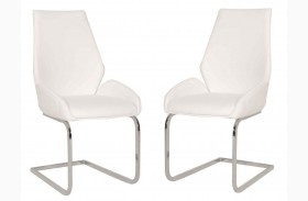 Regis Caro Chrome Dining Chair Set of 2
