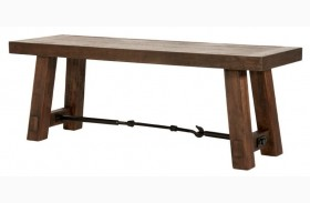 Carter Rustic Java Dining Bench