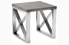 Catalan Sealed Concrete Top End Table