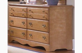Common Sense Salem Maple 6 Drawer Double Dresser