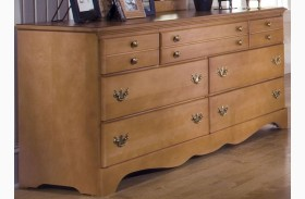 Common Sense Salem Maple 7 Drawer Triple Dresser