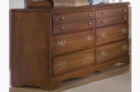 Common Sense Cherry 6 Drawer Double Dresser