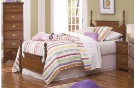 Common Sense Cherry Twin Panel Bed