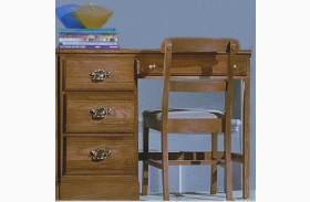 Carolina Oak Golden Oak 4 Drawer Desk