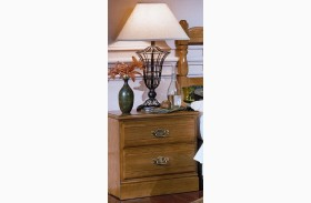 Carolina Oak Golden Oak 2 Drawer Nightstand