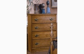 Carolina Oak Golden Oak 4 Drawer Chest