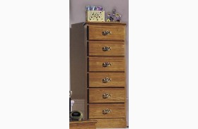 Carolina Oak Golden Oak 6 Drawer Lingerie Chest