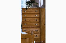 Carolina Oak Golden Oak 6 Drawer Chest