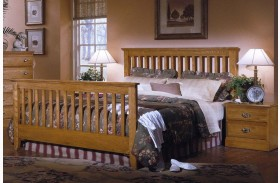 Carolina Golden Oak Full Slat Bed