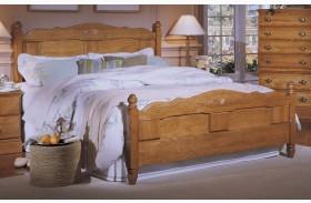 Carolina Golden Oak Queen Panel Bed