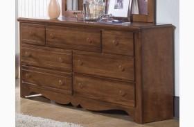 Carolina Crossroads Brown Cherry 7 Drawer Triple Dresser