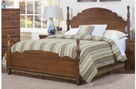 Carolina Crossroads Brown Cherry Queen Panel Bed