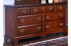 Carolina Classic Cherry 7 Drawer Triple Dresser